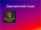 Operationele inzet Lua